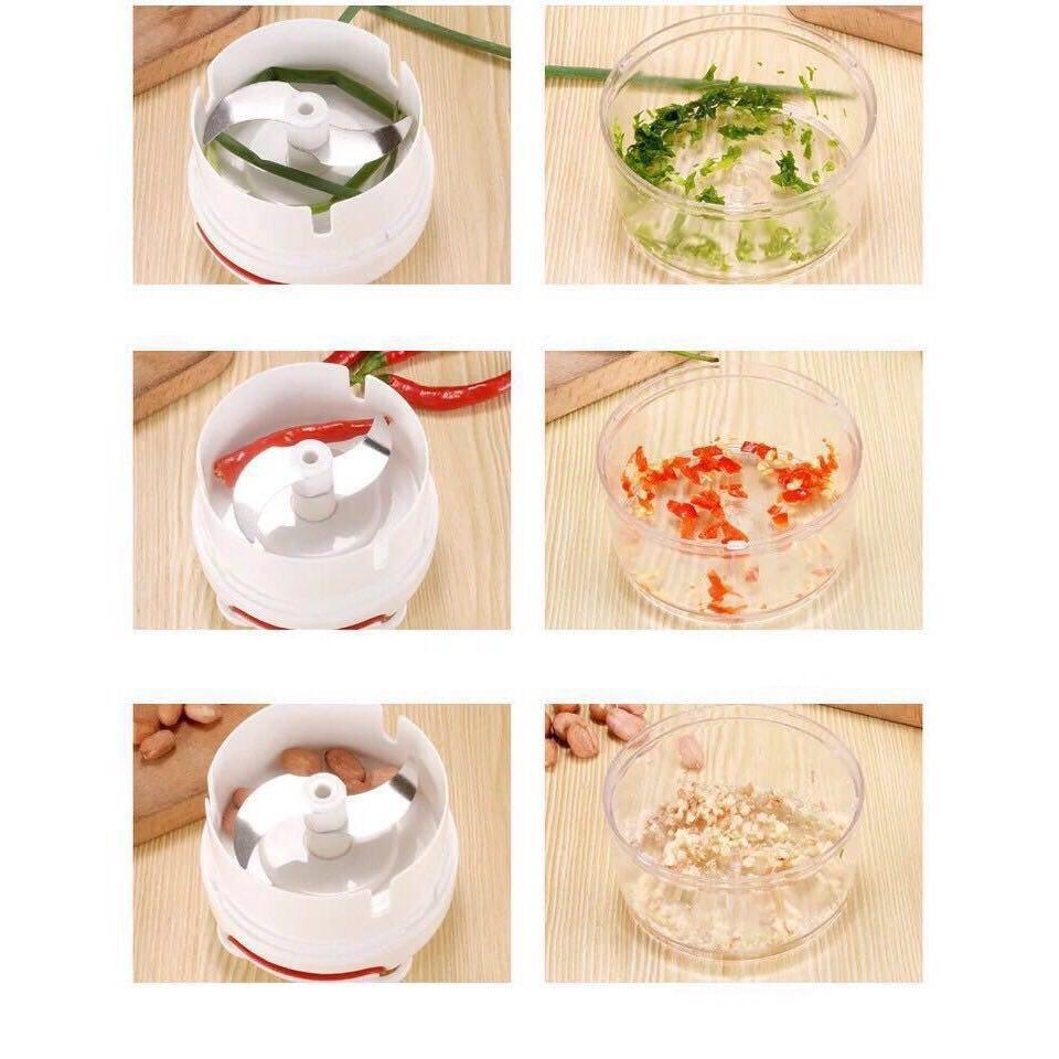 Dụng cụ cắt tỏi, máy băm tỏi rau củ thức ăn nhỏ gọn dễ sử dụng
