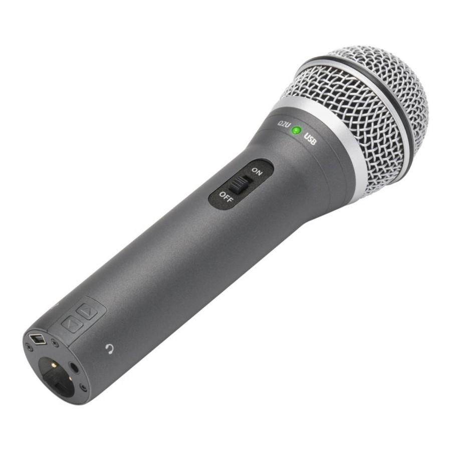 Micro USB thu âm Dynamic Samson Q2U - Hàng Chính Hãng