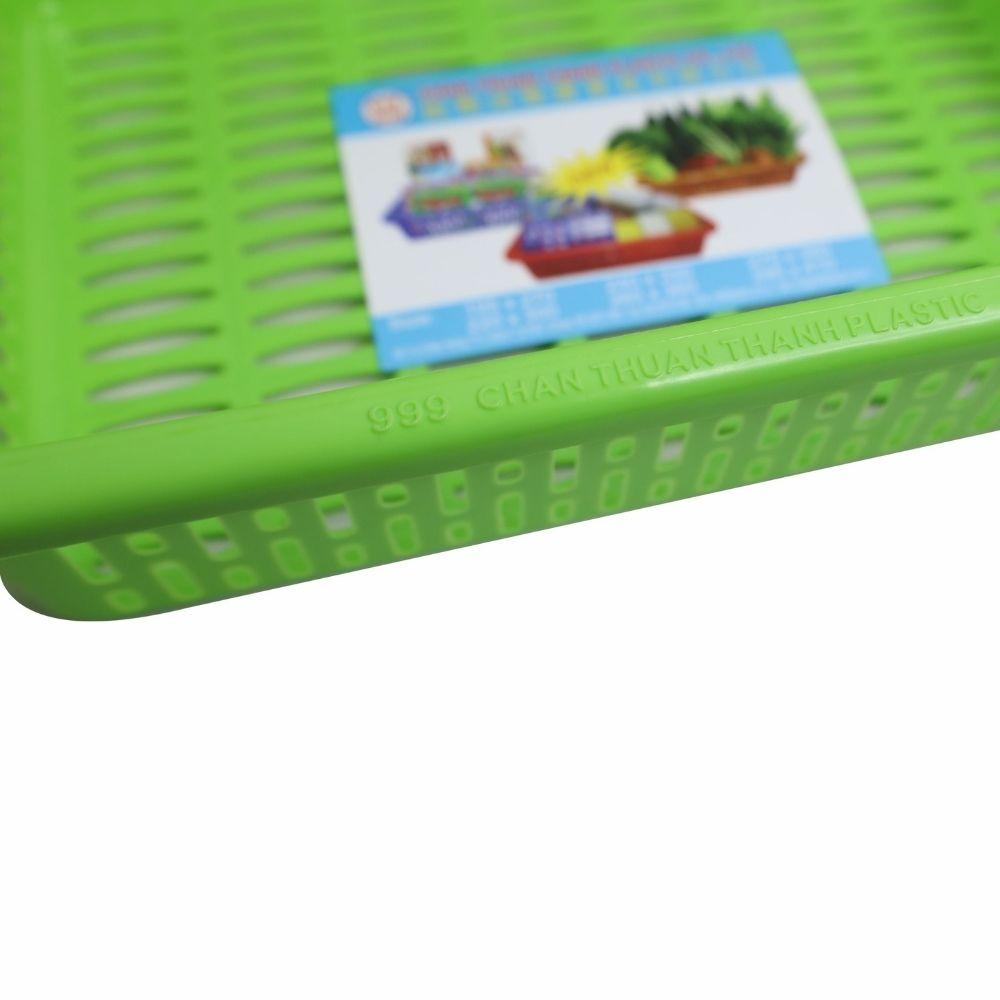 Combo 3 rổ nhựa chữ nhật Chấn Thuận Thành 38 x 27 x 9.5 cm đựng đồ, đựng rau củ, đa năng tiện dụng RCN3820-8 (giao màu ngẫu nhiên)