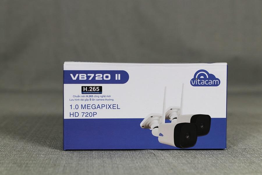 [TẶNG THẺ NHỚ NETAC 32G] CAMERA IP NGOÀI TRỜI VITACAM VB720II - ĐÀM THOẠI 2 CHIỀU - Hàng chính hãng
