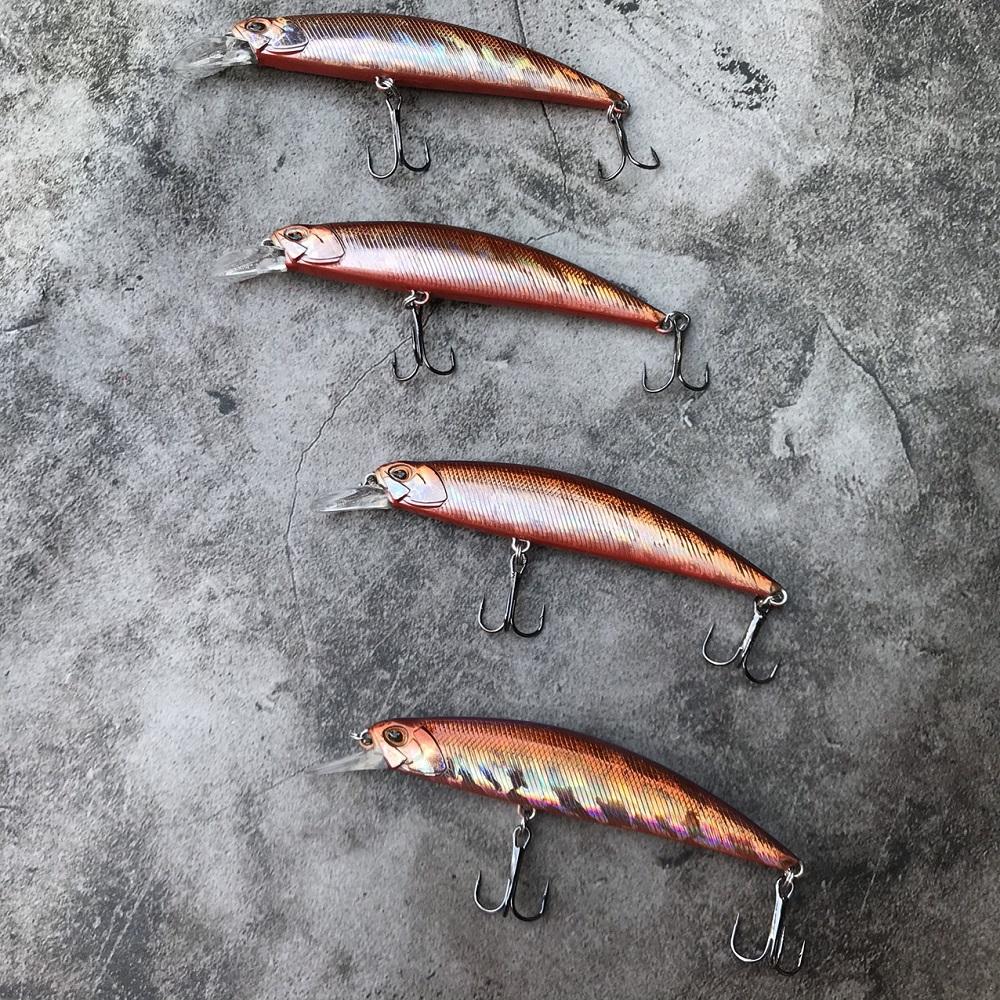 [ĂN LÀ DÍNH] mồi lure minnow M095 nặng 15gam, mồi giả câu cá chẽm cá hồng hiệu quả, mồi lure chìm câu biển dạ quang, mồi giả câu cá nhồng biển cá bass, mồi câu lure cá tráp cá măng, mồi giả câu cá biển cao cấp