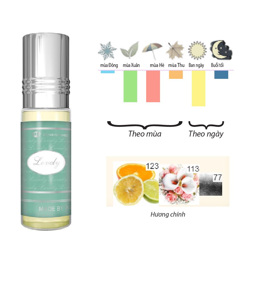 Combo Tinh dầu nước hoa Lovely & Choco musk Al-Rehab (hàng chính hãng )