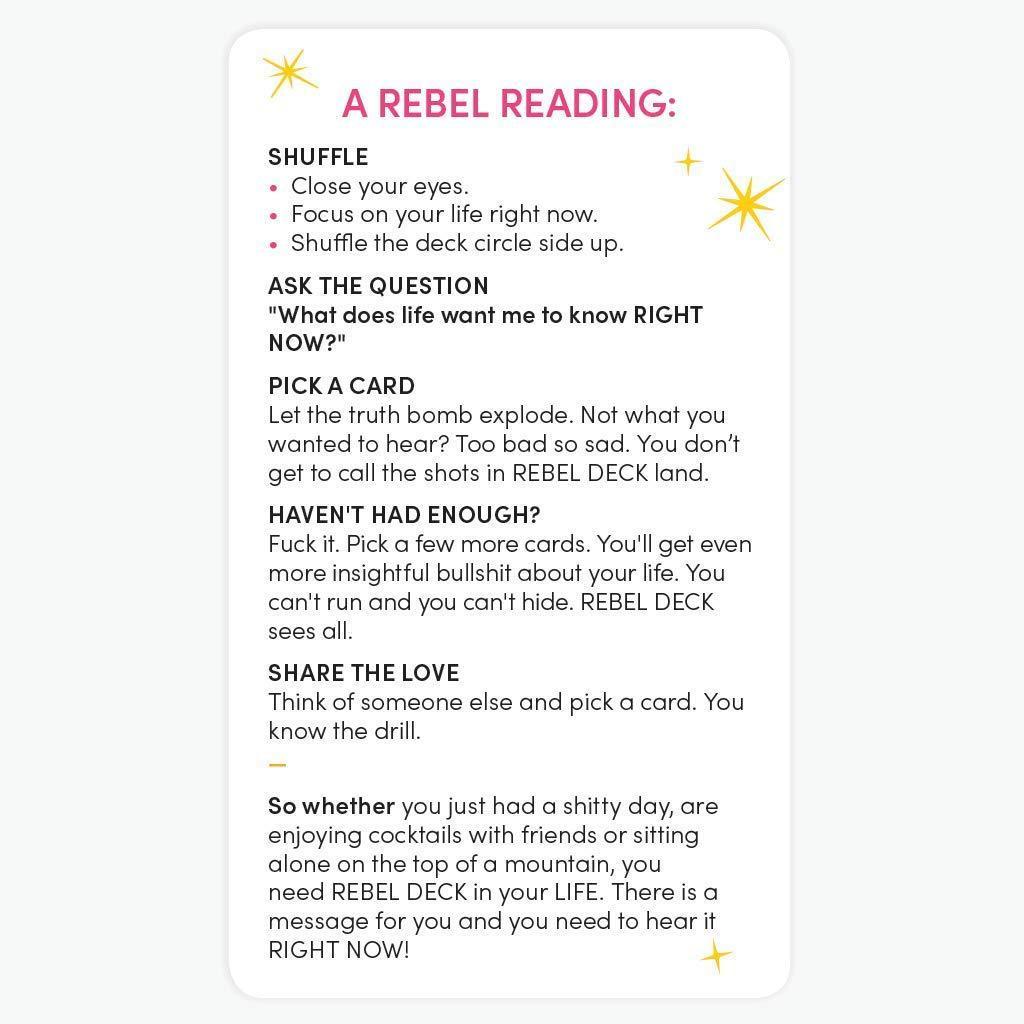 Bộ Bài Tarot Bói REBEL DECK - The Oracle with Attitude - Oracle Deck (60 Cards) Siêu Hot