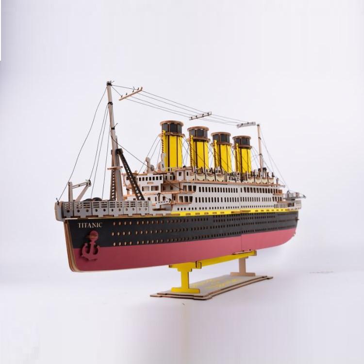 Đồ chơi lắp ráp gỗ 3D Mô hình Tàu Titanic Laser