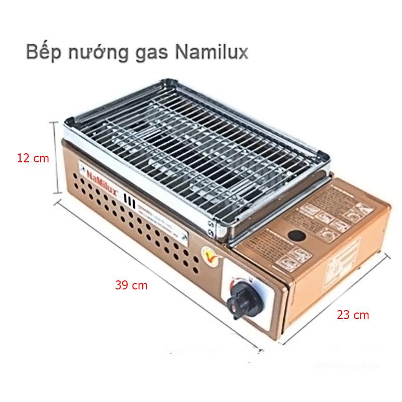 Bếp nướng ga hồng ngoại Namilux NA-24N đốt cháy ga hoàn toàn, không ám mùi ga - Hàng chính hãng