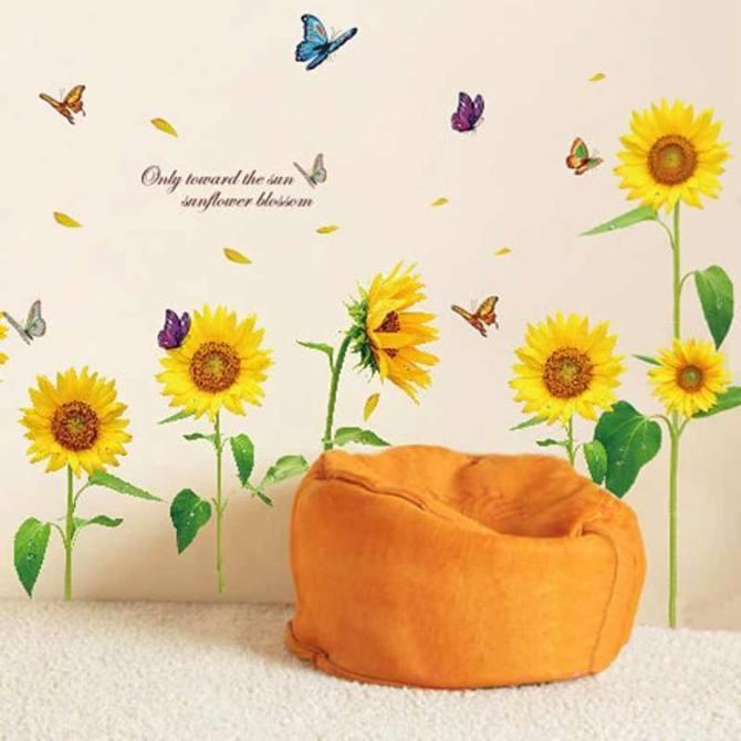 Decal hoa hướng dương