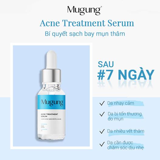 Mugung Korea Serum ngăn ngừa tất cả các loại mụn cứng đầu không bong da giúp cho làn da đep tự tin hơn