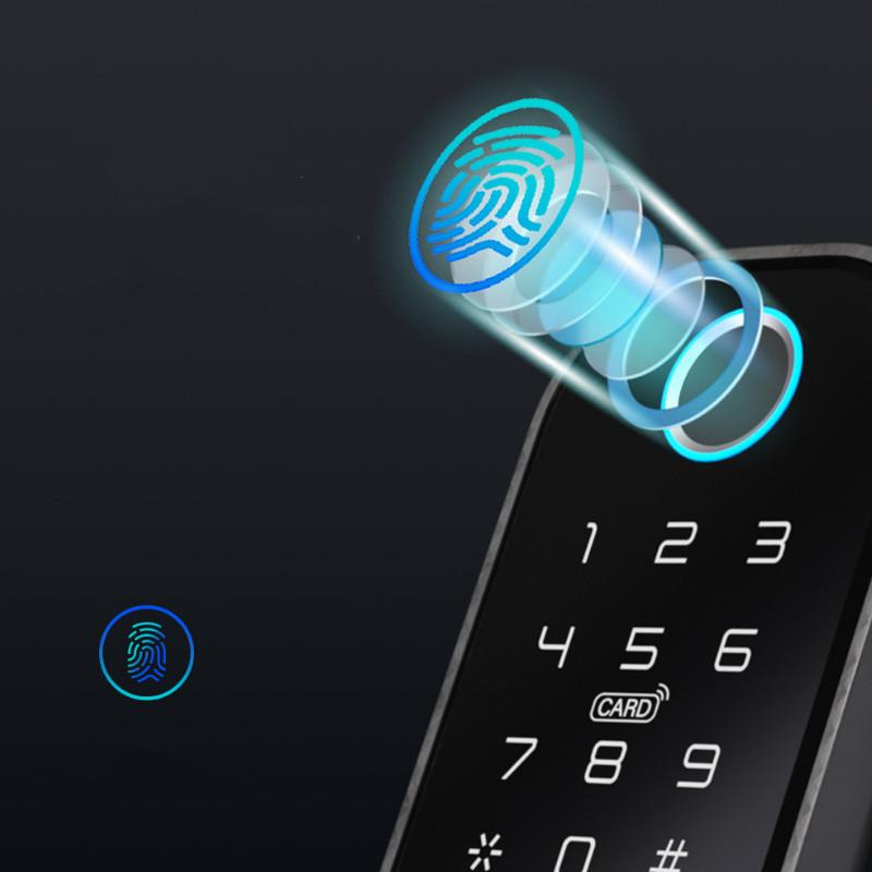 Khóa Cổng Vân Tay Thẻ Từ Mã Số 2 Mặt Đọc Wifi Điều Khiển Qua Ứng Dụng Tuya SHP-IDL10C