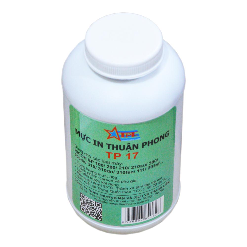 (BỘ 10 CHAI) Mực đổ Thuận Phong TP17 dùng cho máy in Ricoh SP 100/ 200/ 201/ 202/ 203/ 210/ 212/ 300/ 310/ 311/ 312 - Hàng Chính Hãng