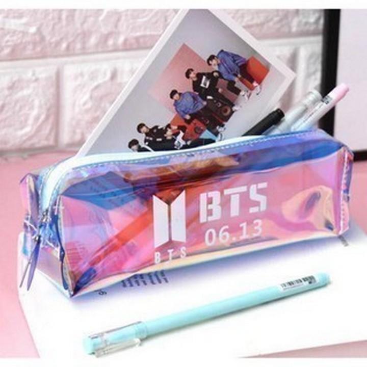 Hộp bút trong BTS thiết kế sang trọng phong cách thời trang cá tính Hàn quốc tặng ảnh thiết kế Vcone