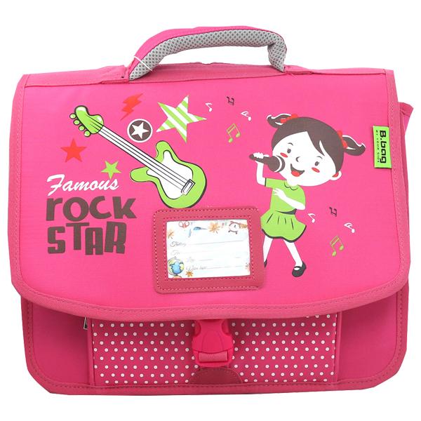Cặp Học Sinh B.BAG Rock Star C-12-025 - Hồng (33.5 x 30 x 10.5 cm)