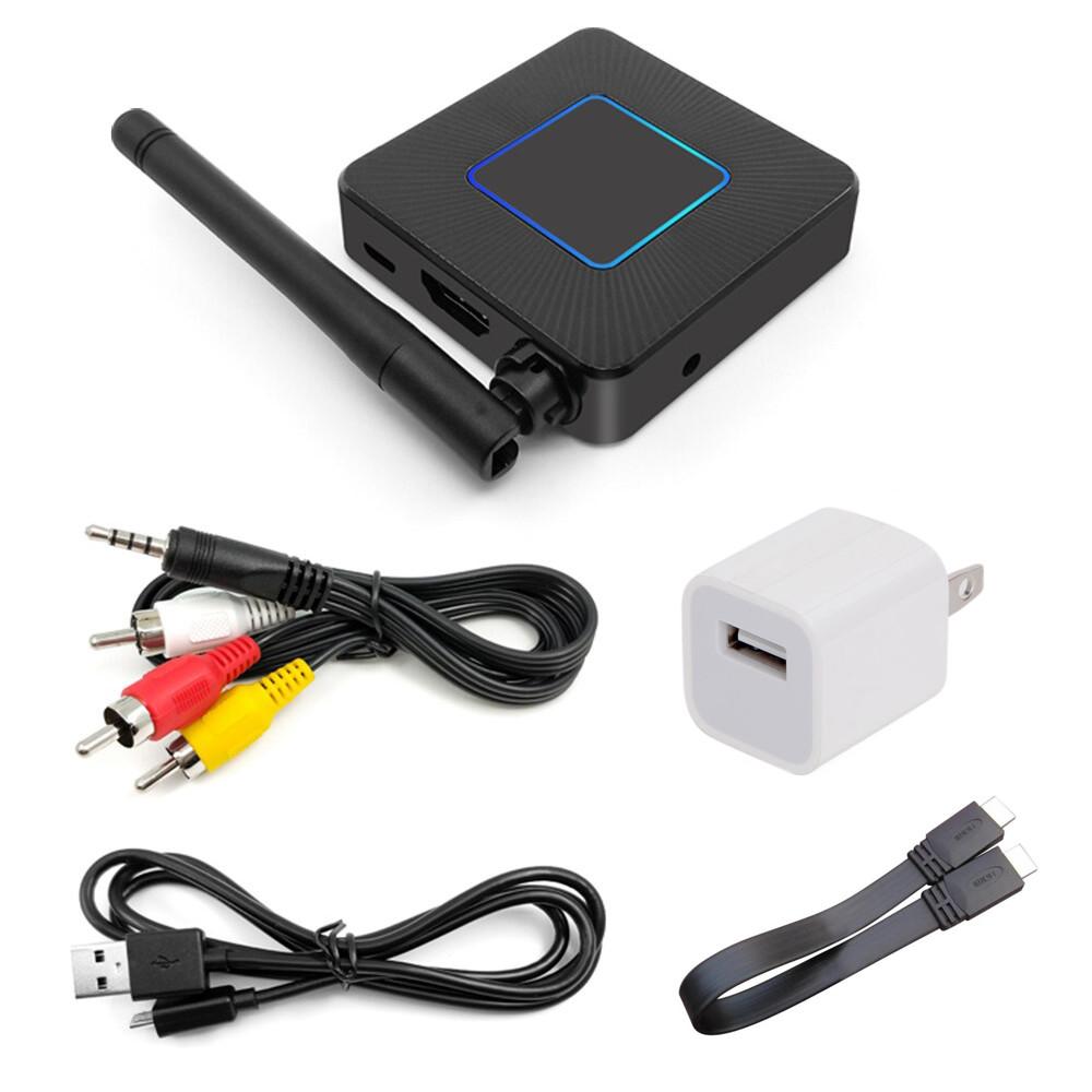 Thiết Bị Wifi Display Q4 Hỗ Trợ Truyền Hình Ảnh, Video Từ Điện Thoại Ra TV, Máy Chiếu Cổng HDMI và AV Full HD 1080p Chuẩn 2.4GHz