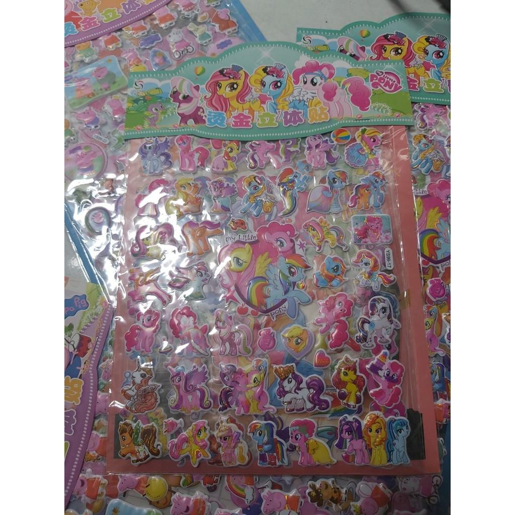 Tờ dán sticker nổi 3D thời trang, công chúa, siêu nhân bản to nhiều chi tiết cho bé