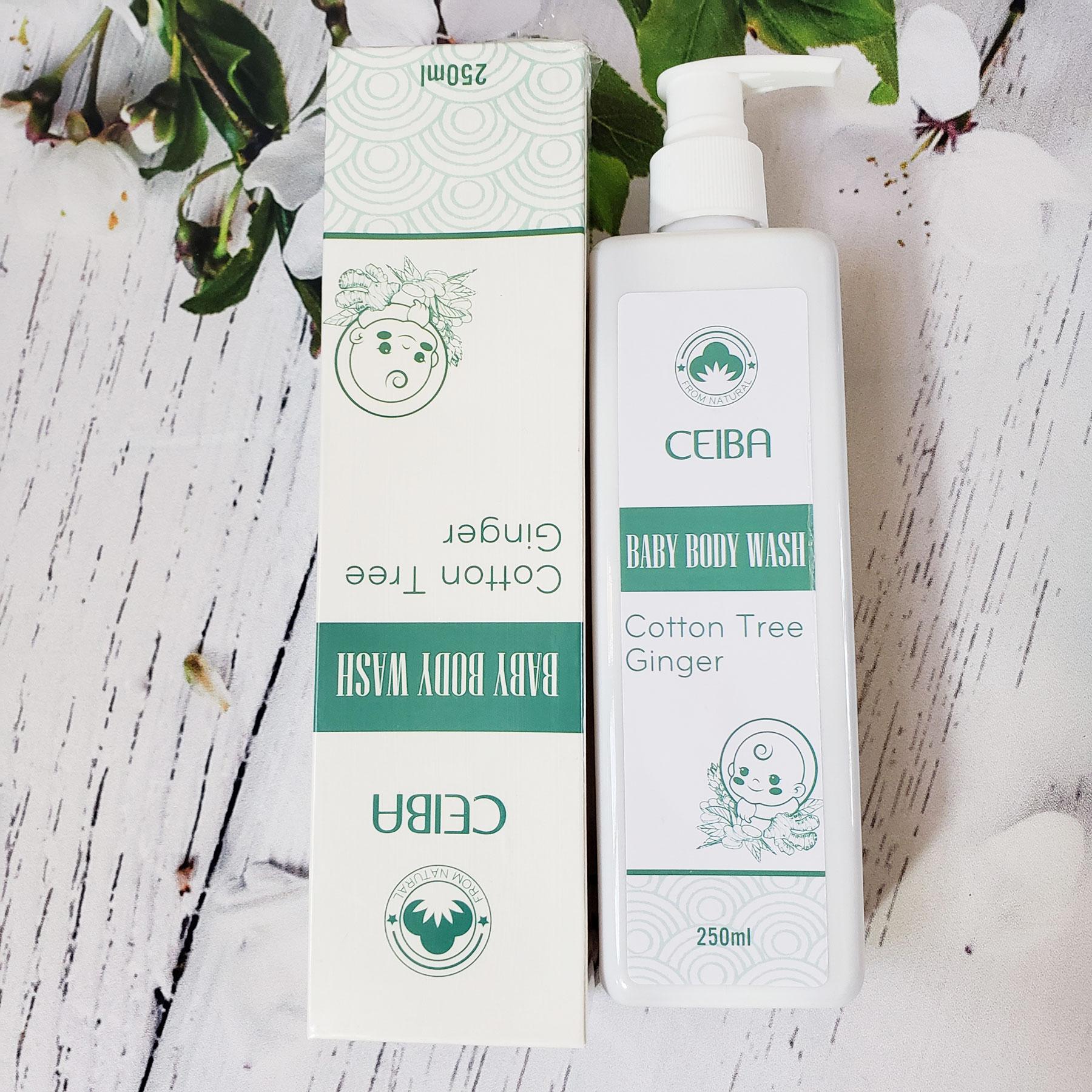 Sữa tắm tinh dầu gừng Baby Body Wash CEIBA 250ml