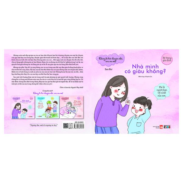 Chúng Ta Trò Chuyện Nhé Con Của Mẹ - Nhà Mình Có Giàu Không (Tranh Màu)