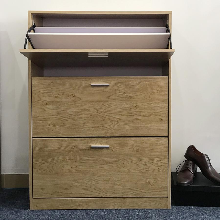 Tủ đựng giày thông minh (3 cánh vân sồi) - TG80-01