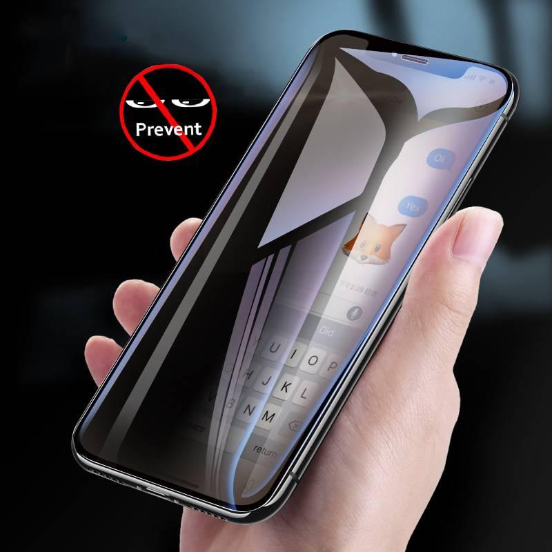 Miếng dán kính cường lực chống nhìn trộm cho iPhone X / iPhone Xs hiệu Baseus (mỏng 0.3mm, Chống bụi màng loa, cảm ứng mượt mà, độ trong tuyệt đối, chống mọi va đập) - hàng chính hãng
