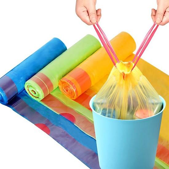 Combo 5 cuộn túi đựng rác có dây rút tự động - Hàng nhập khẩu