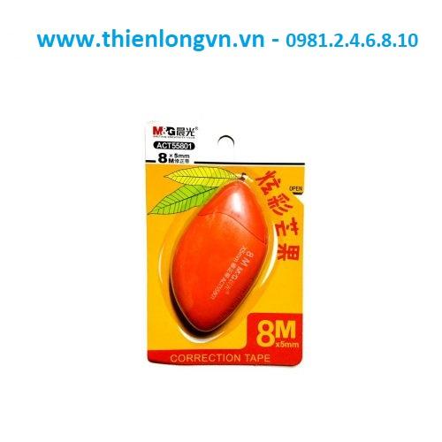Xóa băng - Xóa kéo 8m hình quả xoài M&G - ACT55801 màu cam