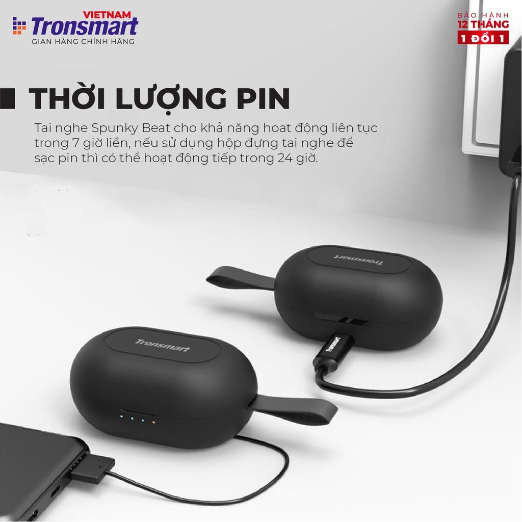 Tai nghe Bluetooth 5.0 Tronsmart Spunky Beat Khử tiếng ồn Chống nước IPX5 - Hàng Chính Hãng