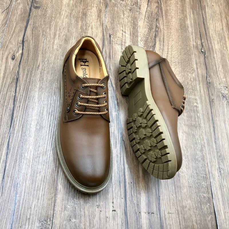 Giày đốc nam cổ ngắn da bò thật mẫu giày đốc nam cao cấp hàng xuất khẩu