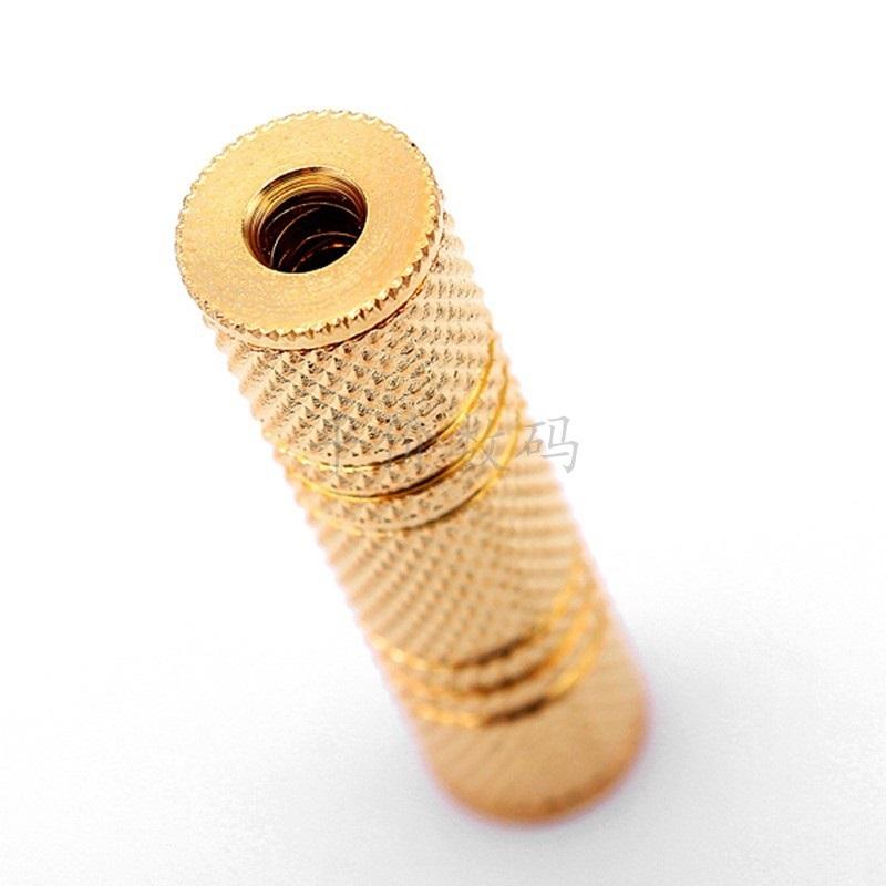 Đầu nối dây loa chuẩn 3.5 hai đầu âm mạ vàng