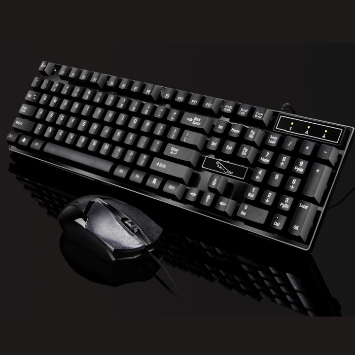 Bộ Bàn phím và chuột Q17 giả cơ game chuyên dụng Tặng lót chuột