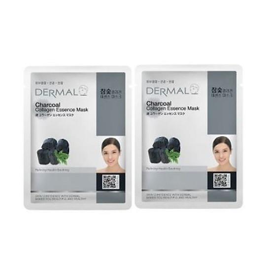 Mặt Nạ Dưỡng Chất Than Hoạt Tính + Collagen Dermal - 8 Miếng