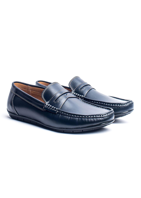 Giày Lười Nam Da Bò Thật Nguyên Tấm Cao Cấp Loafer TFHN153 - (Tặng Vớ/Lót Giày)