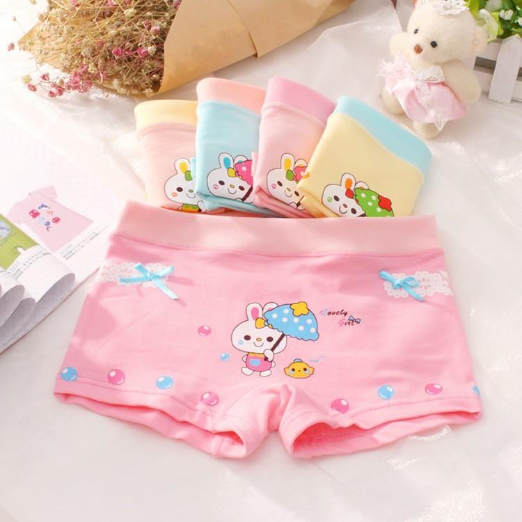 5 Quần lót  Cotton bé gái - quần sịp trẻ em