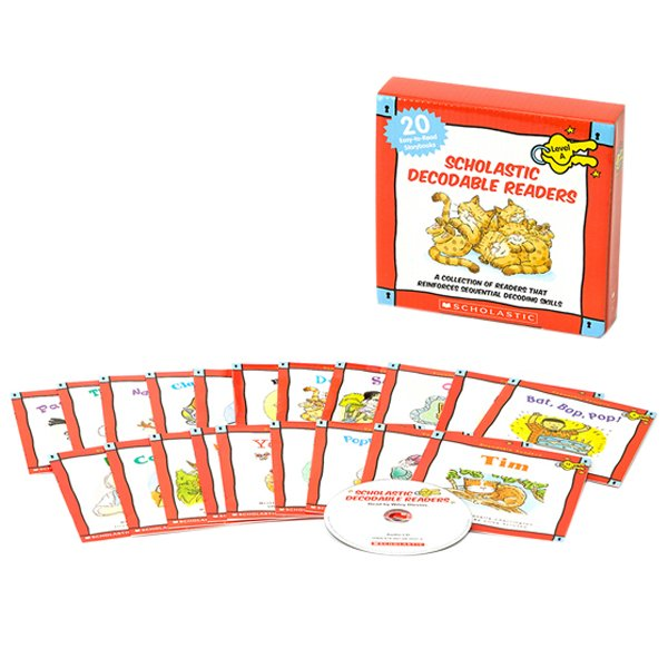 Scholastic Decodable Readers : Box Set Level A (Include 20 Books with CD)