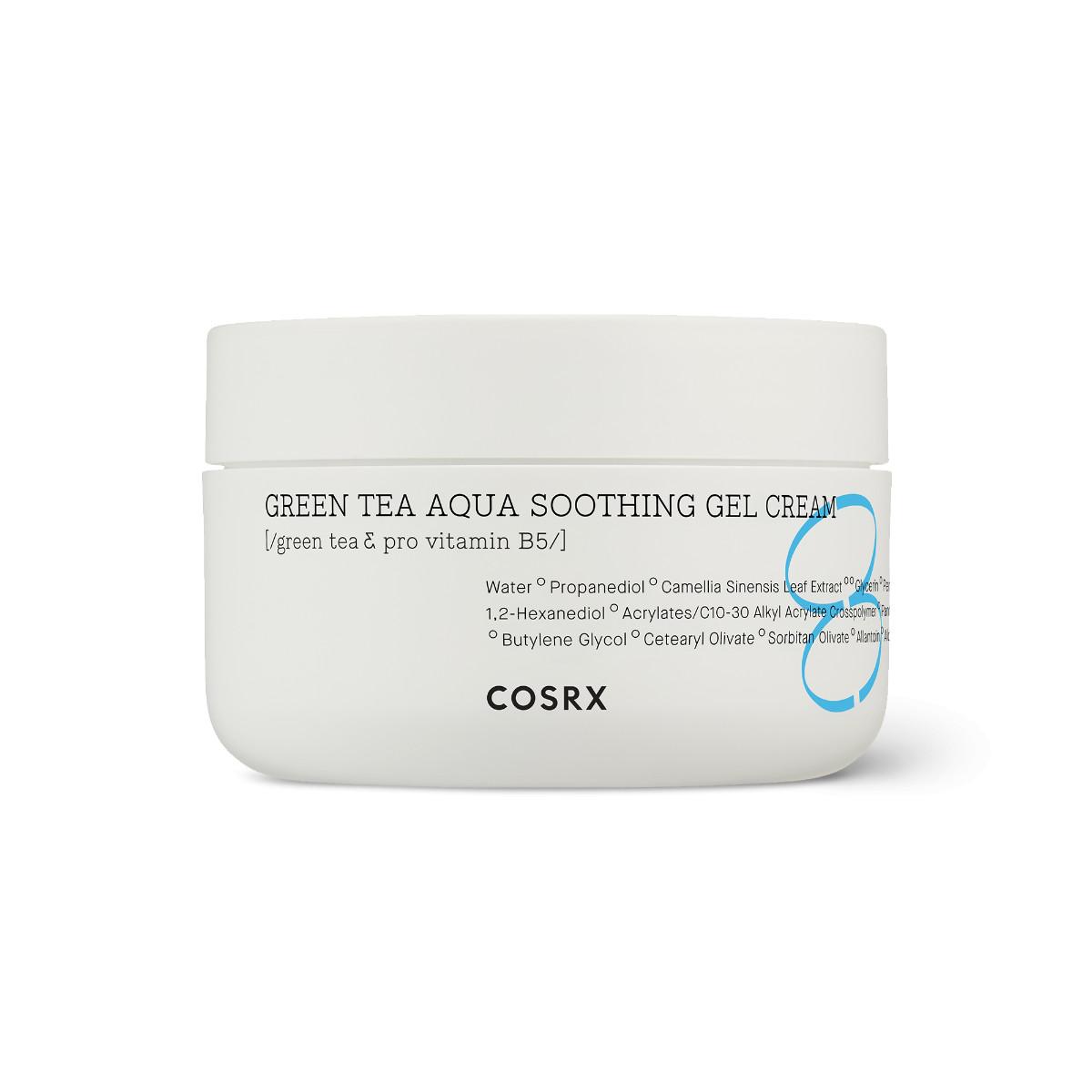Gel Dưỡng Ẩm Dịu Da Trà Xanh + B5 COSRX Hydrium Green Tea Aqua Soothing Gel Cream 50ml