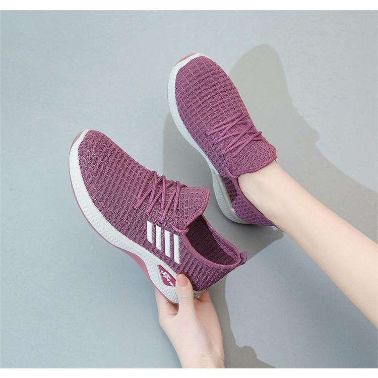 Giày Thể Thao Vải Nữ Thời Trang Bền Đẹp Đi Bộ Đi Chơi Thể Dục GN33