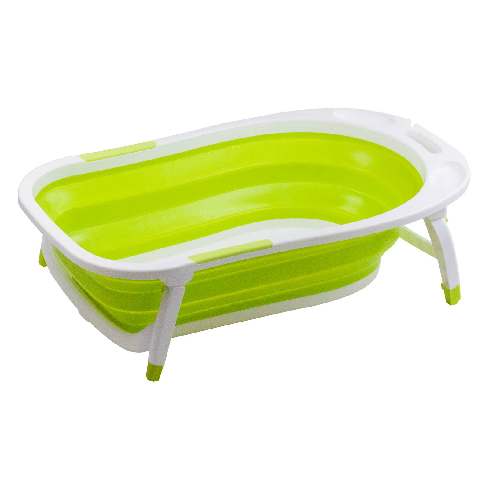 Thau tắm bé - xếp gọn Lucky Baby - Foldable Bath Tub  84(L)X51W)X23(H) (PP+TPR) 8833