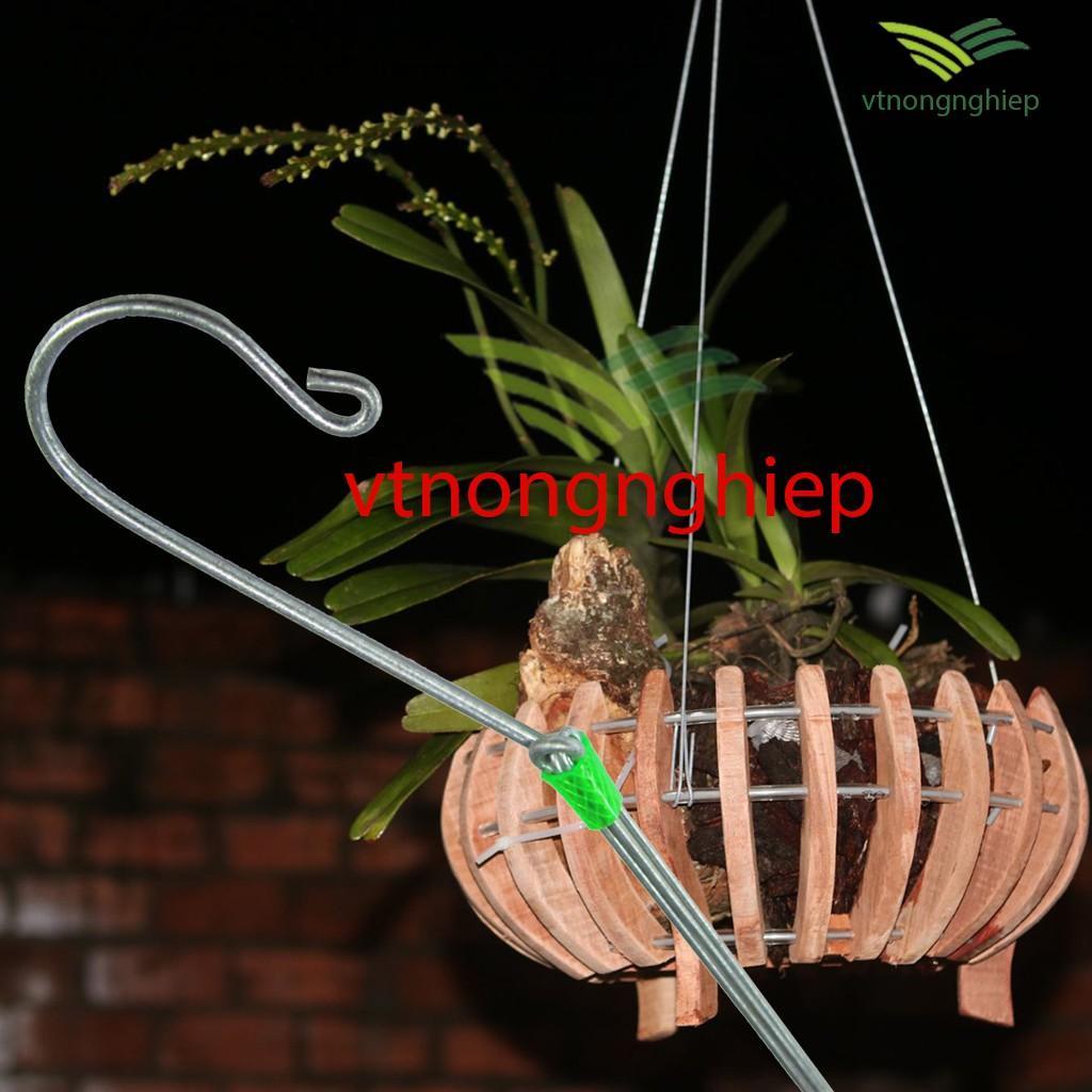 Móc kẽm chia 3 treo chậu hoa lan, chậu cảnh dài 1.1(m), móc kẽm dày 3.5ly, dây treo dày 2.5ly