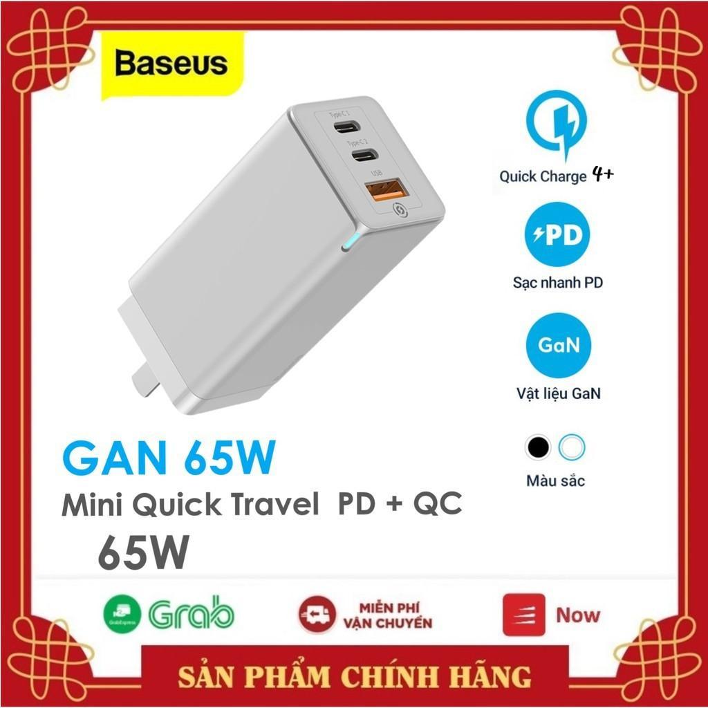 Bộ sạc nhanh thế hệ mới Baseus GaN2 Pro 65W Mini Travel Quick Charger  GaN 65W / GaN 65W Lite  /45W  cho Smartphone