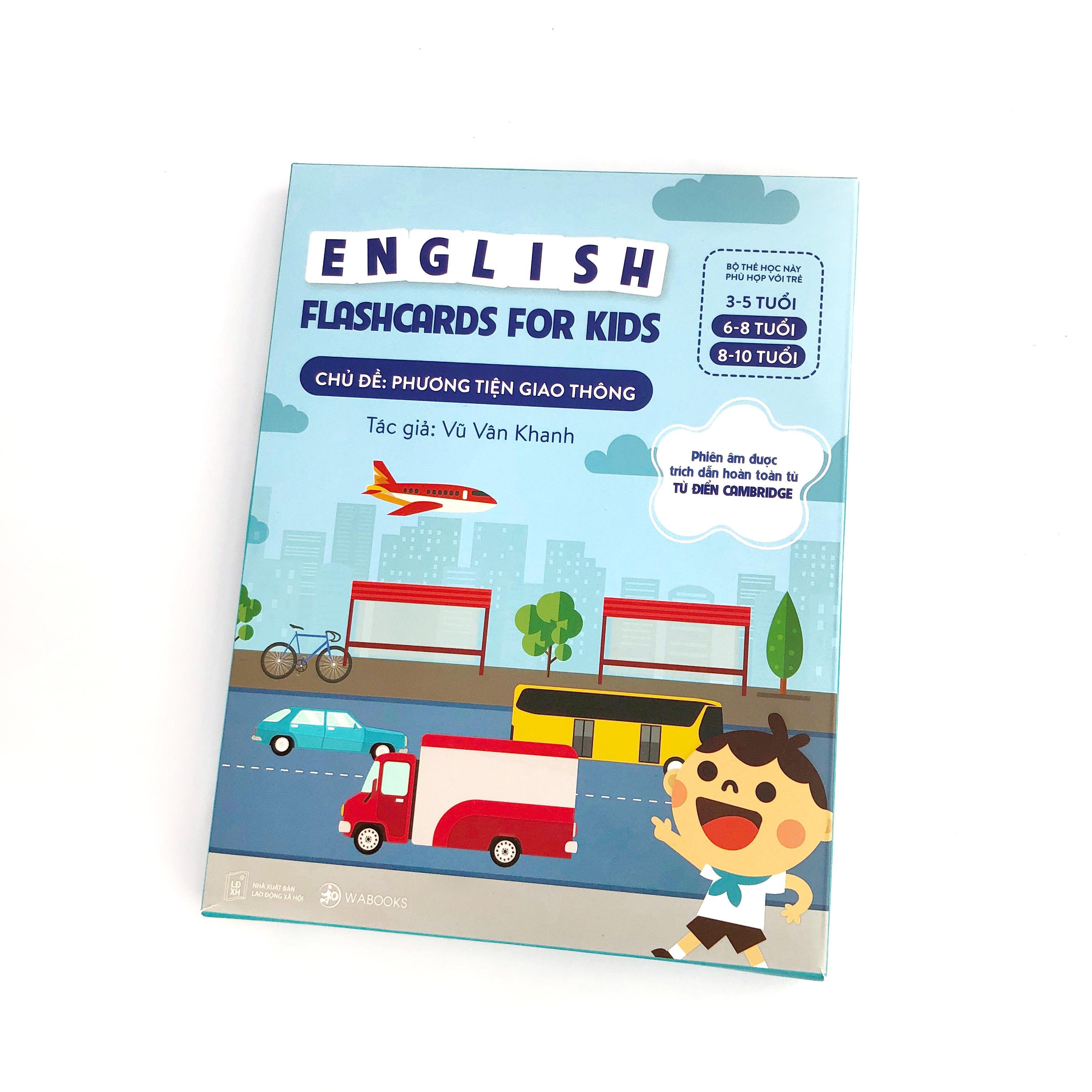 Bộ Thẻ Học Thông Minh Song Ngữ Tiếng Anh Phiên Âm chuẩn CAMBRIDGE - Chủ đề : Phương Tiện Giao Thông (3 - 10 tuổi)