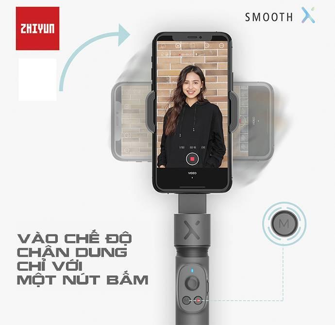 Gimbal chống rung Zhiyun Smooth X - Hàng chính hãng