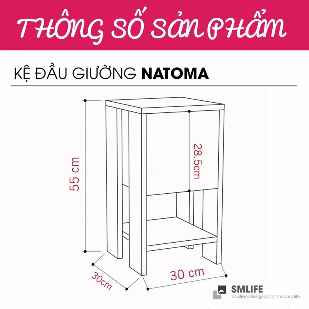 Tủ gỗ đầu giường hiện đại SMLIFE Natoma