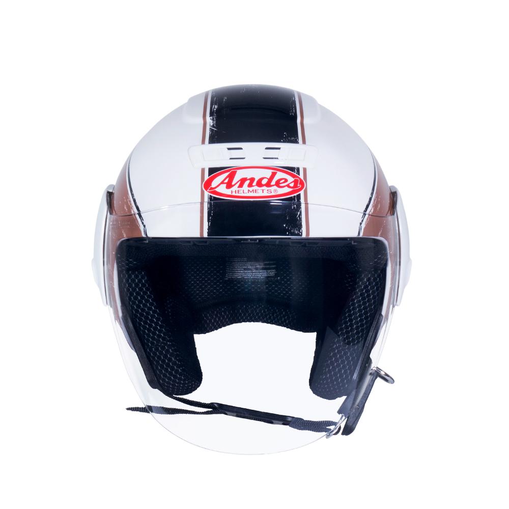 Mũ Bảo Hiểm Andes 3/4 Đầu Có Kính - 3S202D Tem Bóng T36