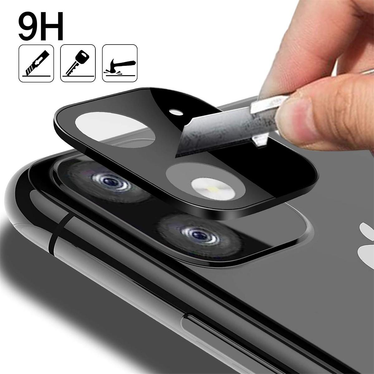 Miếng Dán Cường Lực Camera Dành Cho Iphone 11 Pro/ Pro Max ( Màu Đen)