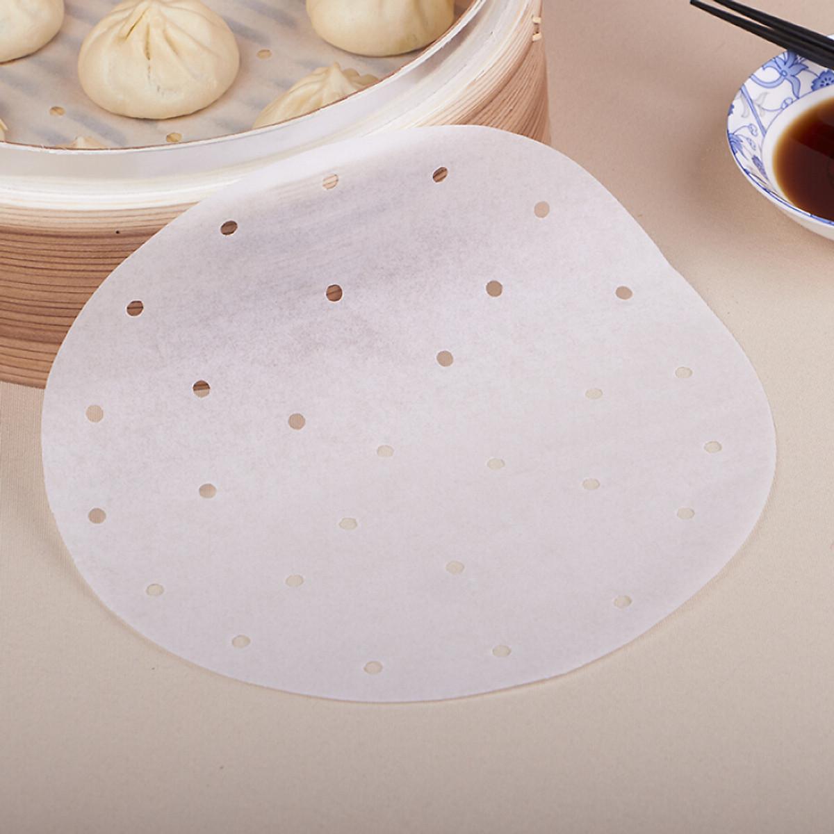 Giấy nến đục lỗ lót nồi chiên không dầu loại 4 lít, 4.5 lít, 5 lít, 6.5 lít - Size 21cm - 100 tờ - siêu tiện dung
