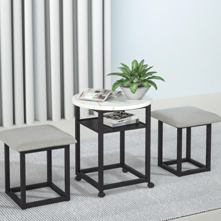 Bộ bàn trà sách 1 bàn  kèm 4 ghế ZK22