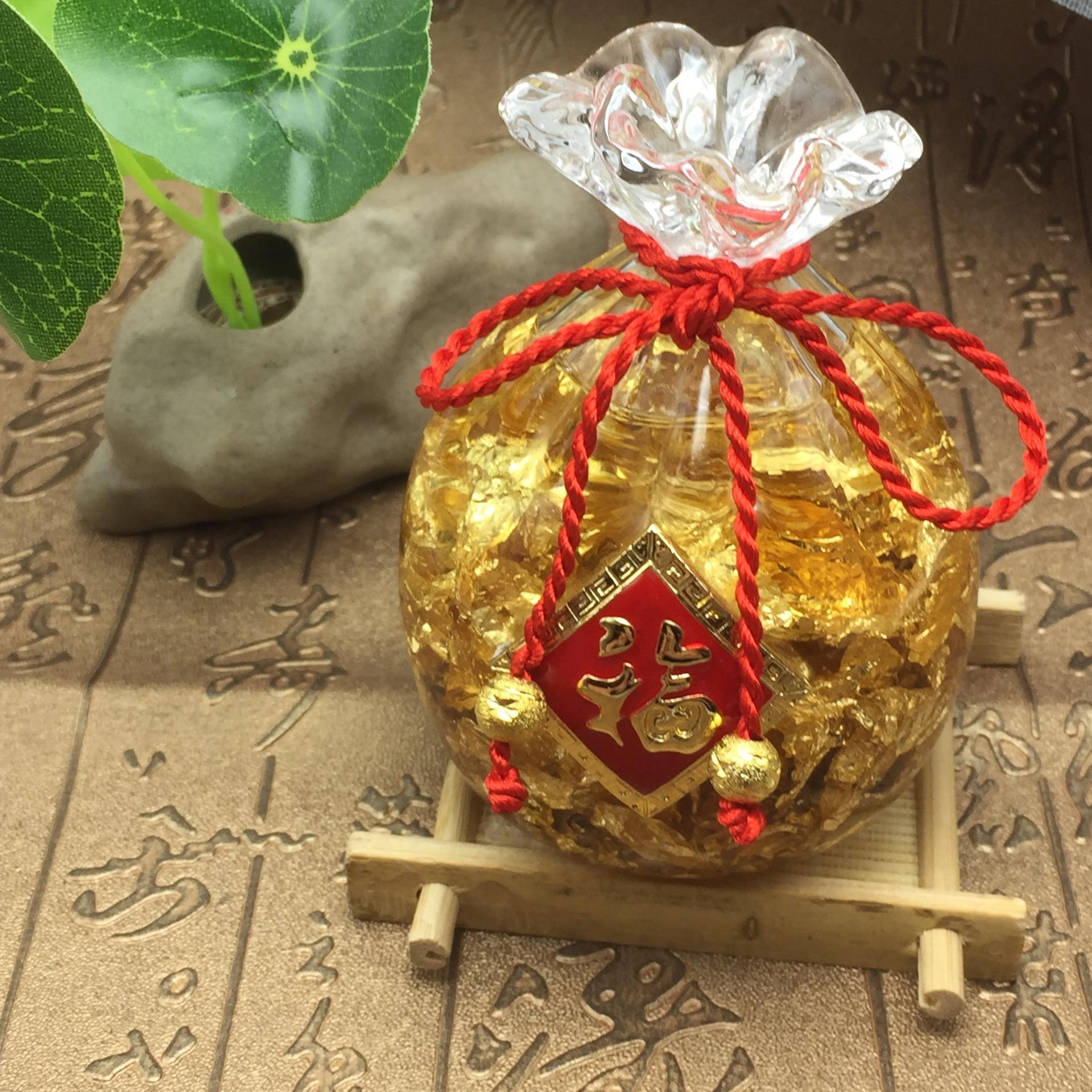 Túi Vàng Pha Lê Phong Thủy Đá Thạch Anh Tự Nhiên