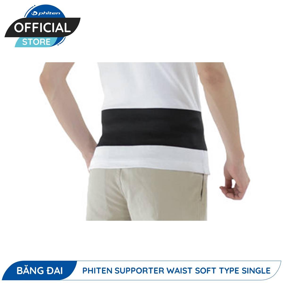 Đai Bảo Vệ Thắt Lưng Phiten Supporter Waist Soft Type Single (Loại Đơn Mềm)