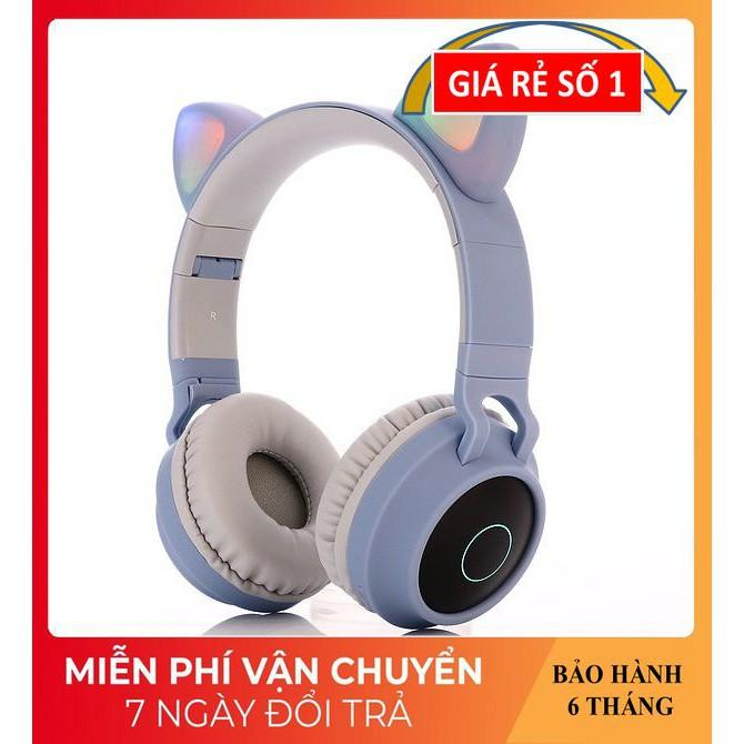 Tai Nghe Chụp Tai ️️ Tai Nghe Con Mèo Phát Sáng Đẹp Mắt - Tai Nghe Bluetooth BT028C Công Nghệ Không Dây 5.0