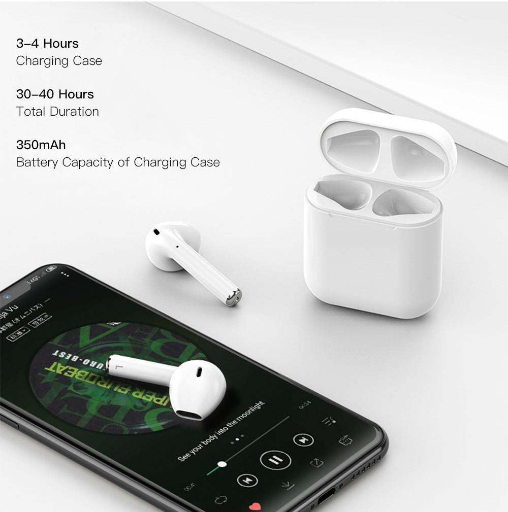 Tai nghe Bluetooth i16Pro 5.0 tai nghe không dây đôi kiểu dáng Thời Trang [Tặng hộp đựng tai nghe silicon]