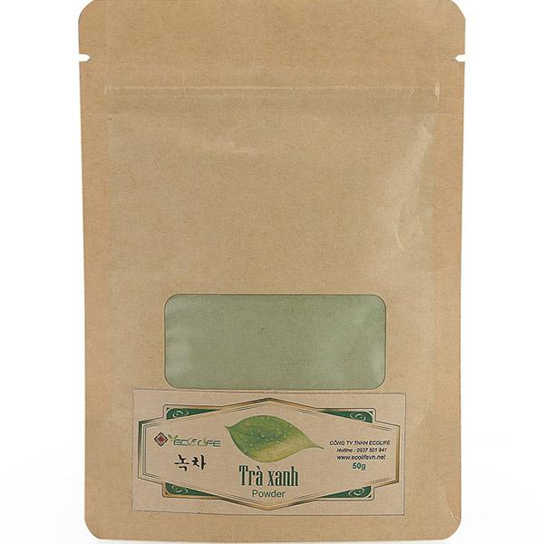 Bột trà xanh đắp mặt túi giấy - Green Tea Powder