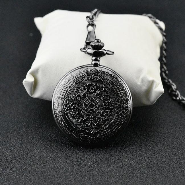 Đồng hồ quả quýt thiết kế sang trọng cổ điển - Màu đen huyền bí - Đồng hồ nam (QUAQUYT.A1.ADTS)