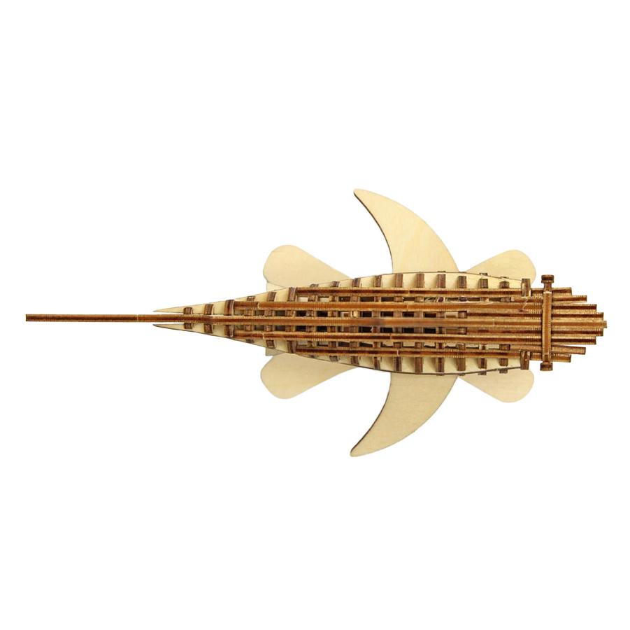 Lắp Ghép Gỗ 3D Trang Trí Cá Mập Ki-gu-mi
